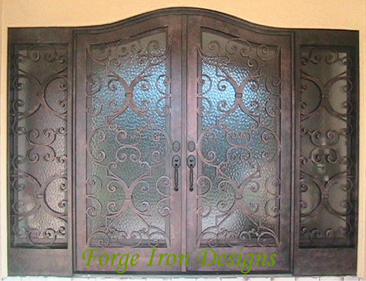 975 #B46F17 Wrought Iron Doors Wine Cellar Doors Forge Iron Products AAW Wood  pic Wood Wrought Iron Doors 43111270